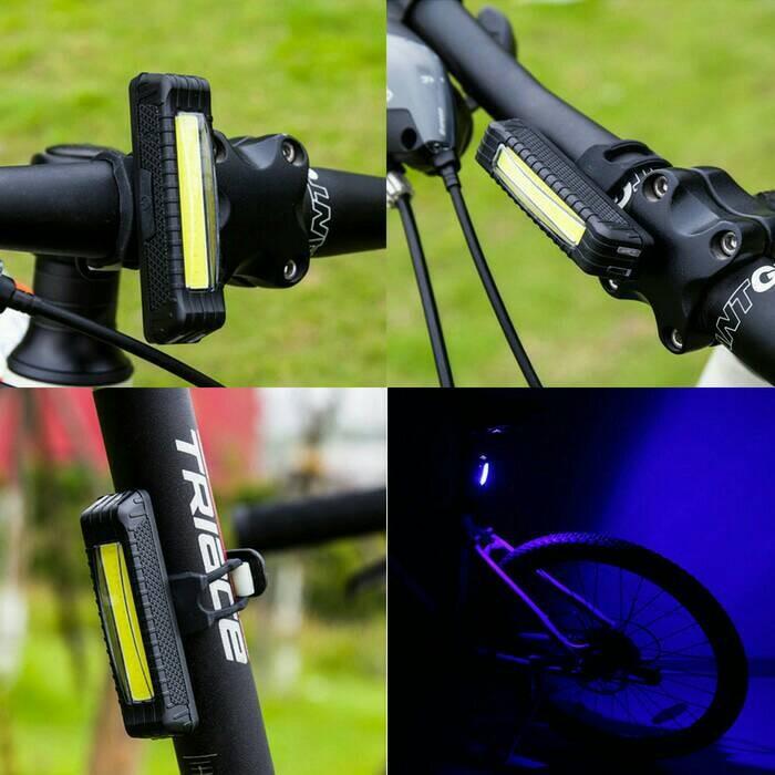 harga Lampu sepeda cob plasma 2cahaya strobo (bisa vertikal dan horisontal) Tokopedia.com