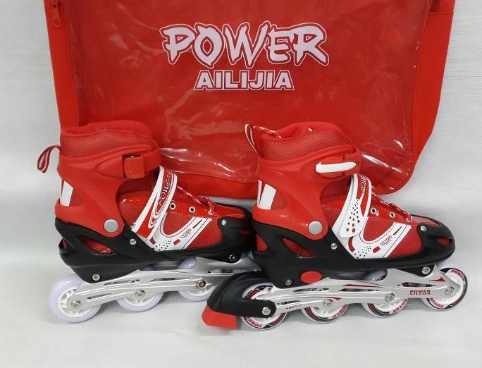 harga Sepatu roda power ailijia inline skate merah Tokopedia.com