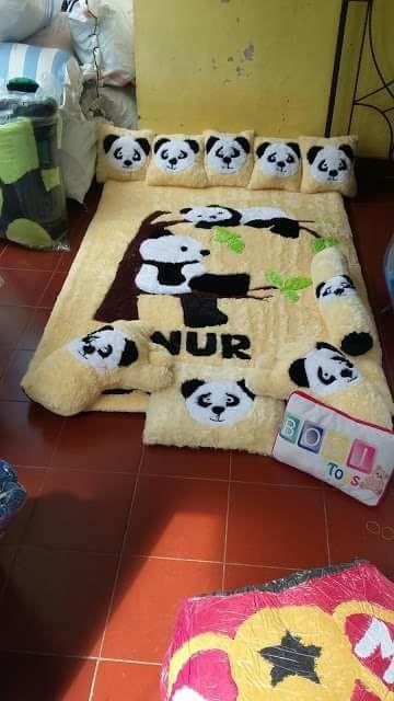 Karpet karakter / Karpet Bulu Bulu / Kasur Bayi / Surpet Panda
