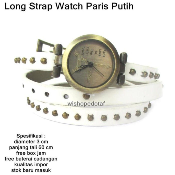 Jam Tangan Wanita Fashion Leather Strap Lilit Gelang Ungu ... 928578e606