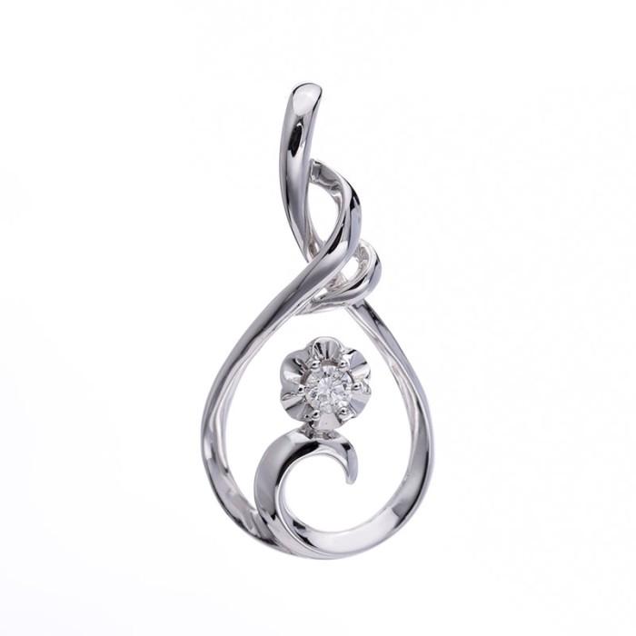 Tiaria dazzling blooms pendant liontin emas berlian