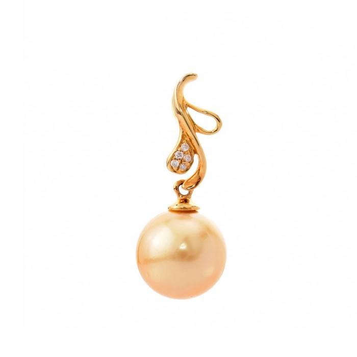 Tiaria precious pearl tp226 pendant liontin emas mutiara