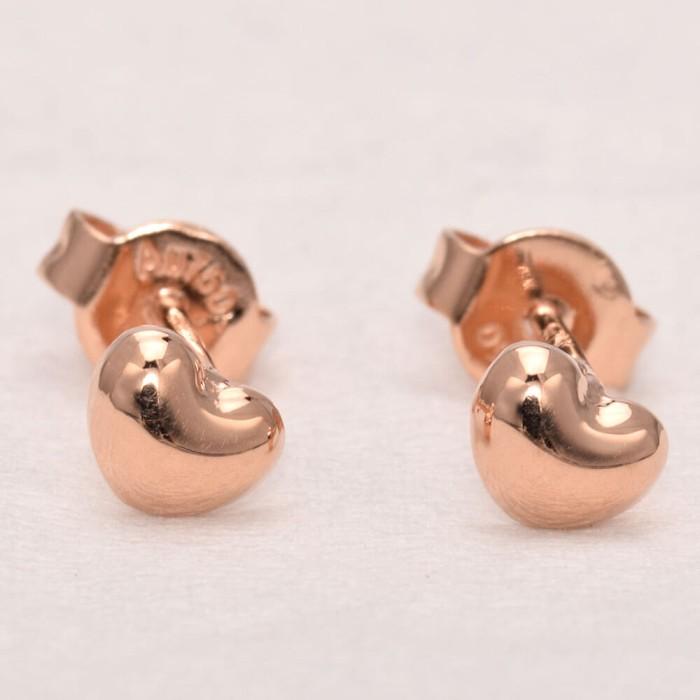 tiaria love d2 rose gold earring anting emas perhiasan anting emas