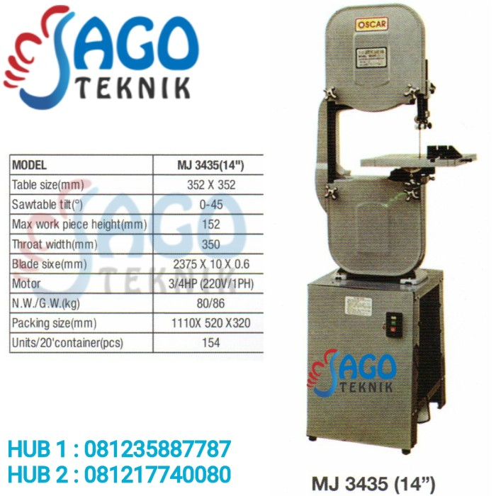 harga Wood cutting band saw 14  oscar mj 3435 / mj3435 (14 ) oscar Tokopedia.com
