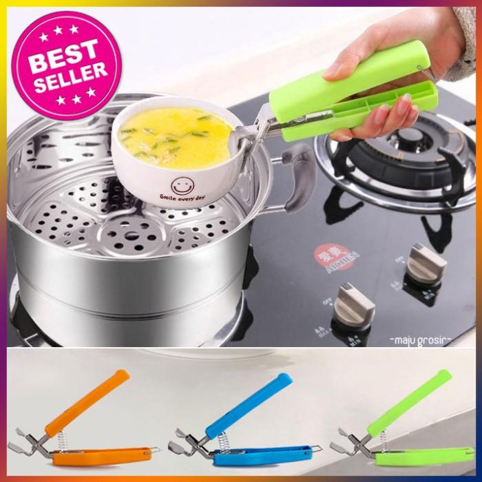 Penjepit mangkok dapur panci masak alat jepit pelindung tangan murah