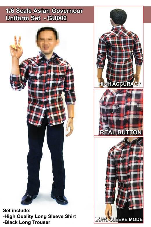 Foto Produk 1/6 scale Set baju Ahok untuk Hot toys dari Charu Toys