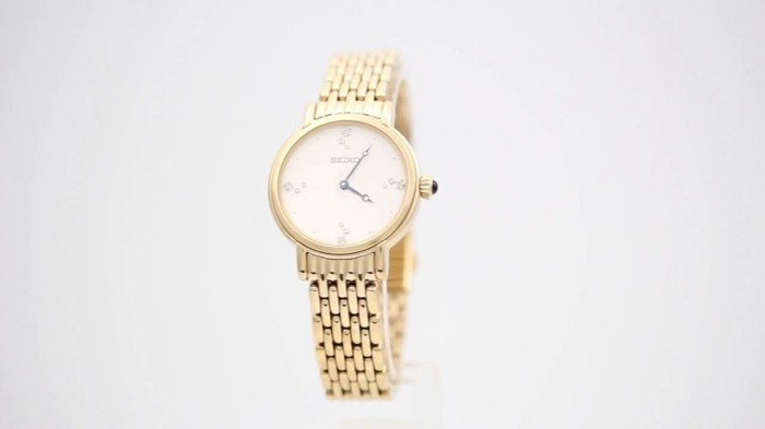Jual Seiko Ladies SFQ804P1 Gold Polished Bracelet  abc7f368e7