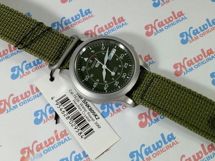 SEIKO SNK361K 5 AUTOMATIC Jam Tangan Analog Fashion & Aksesoris Source · Seiko 5 Automatic SNK805K2 Green Dial & Nylon Strap Jam Pria SNK 805