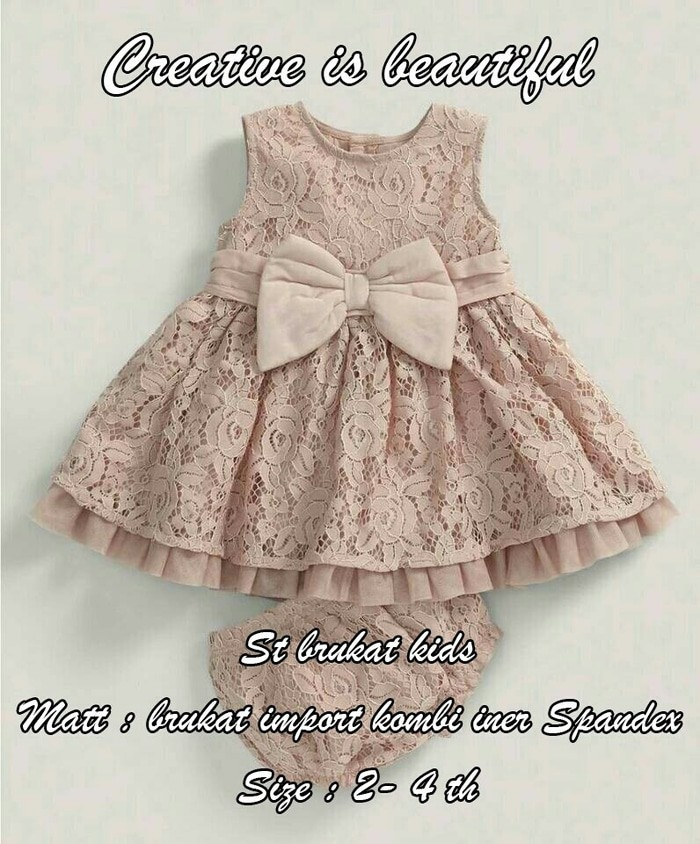 Jual Dress Anak Brokat Coklat Dki Jakarta Mich Collection Tokopedia