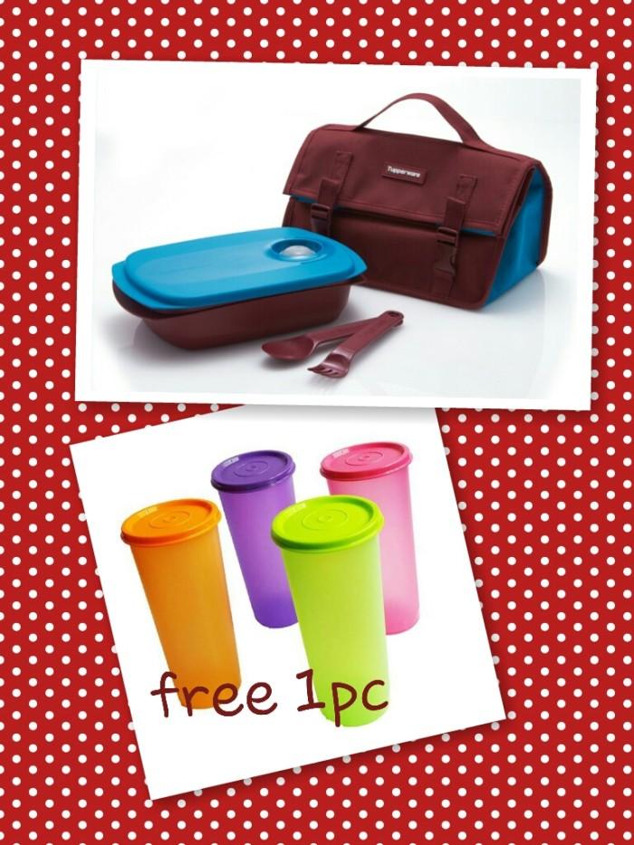 ... harga Tupperware Byo Lunch Set Free 1 Pc Giant Tumbler Tokopedia.com