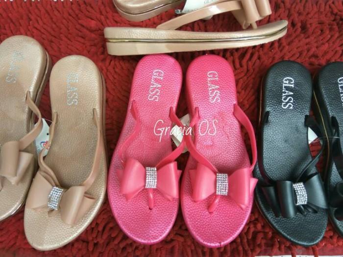 harga Jelly sandal premium cute ribbon - sandal karet - wedges - sandal pita Tokopedia.com