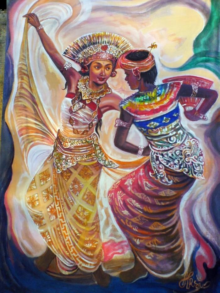 harga Repro gambar lukisan penari bali dancer pretty painting beautiful Tokopedia.com