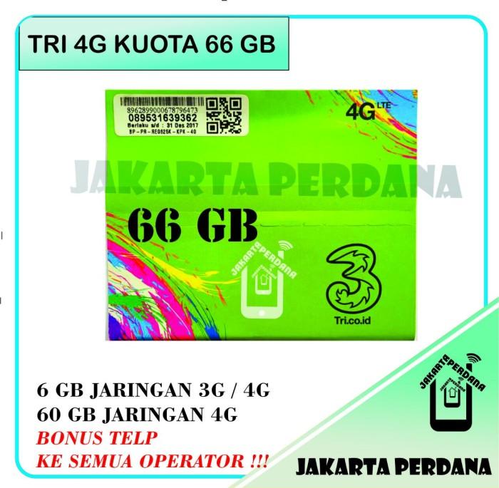 Kartu Perdana tri kuota 66 GB 4G LTE ...