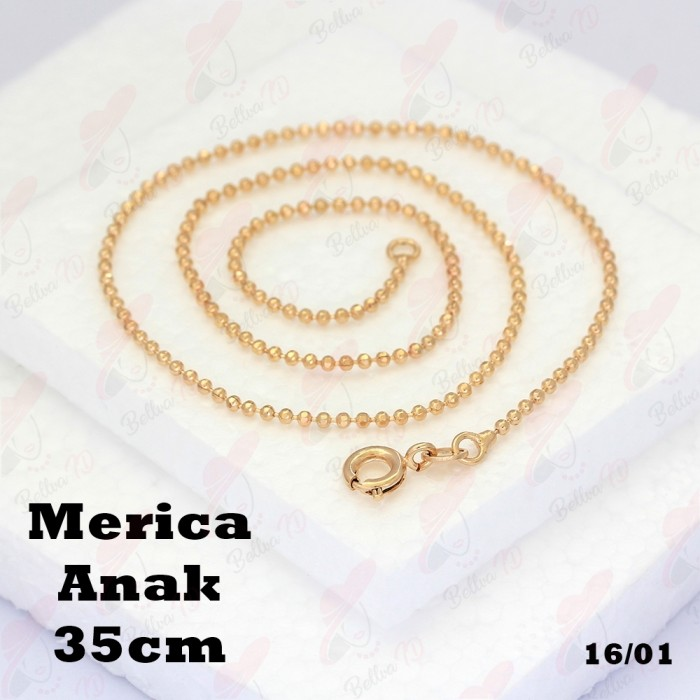 ... Perhiasan Xuping Kalung Polos Merica Lapis Emas 18k
