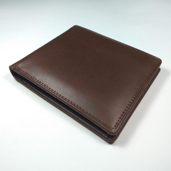 dompet pria kulit sapi asli warna coklat| bifold wallet | leather good