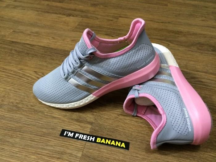 info for 9d3b3 fb9ac Sepatu Running Senam Adidas Gazelle Pure Sonic Ultra Boost Grey Pink