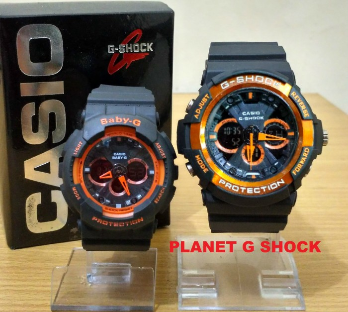 Jual Jam Tangan G Shock Couple GA-200 Black Orange Murah - Rumah G ... d89dafbcef