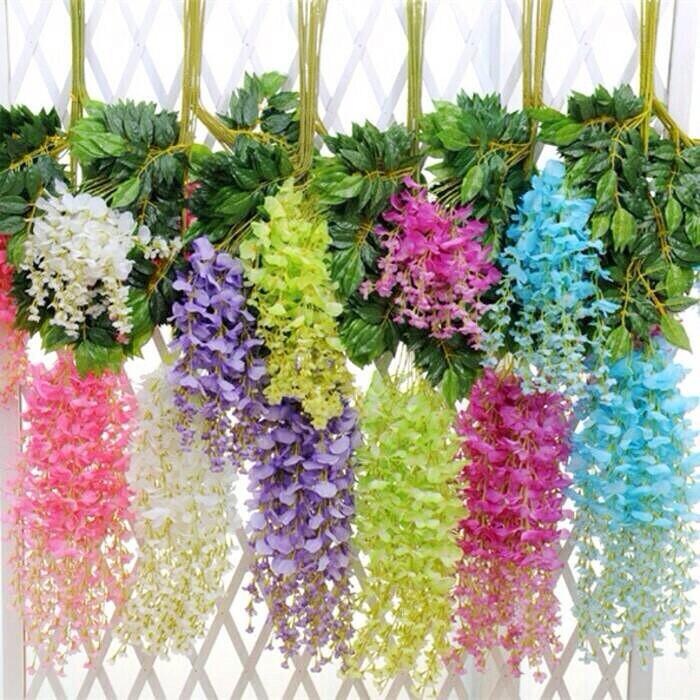 Jual Bunga juntai bunga Dekorasi artificial  plastik westeria ... 9b63b33193