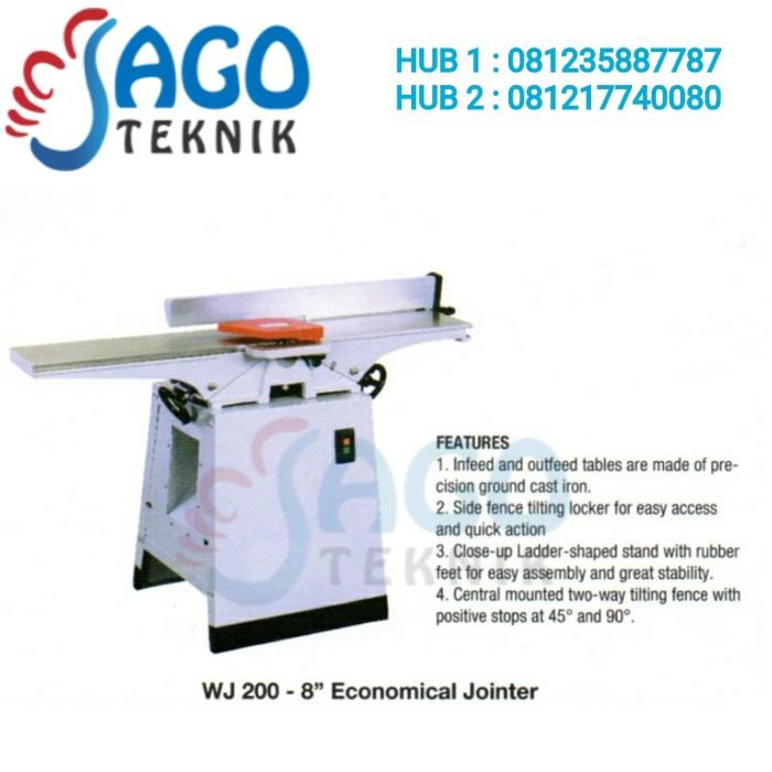 harga Wood jointer wj-200 oscar / economical jointer 8 inch oscar Tokopedia.com