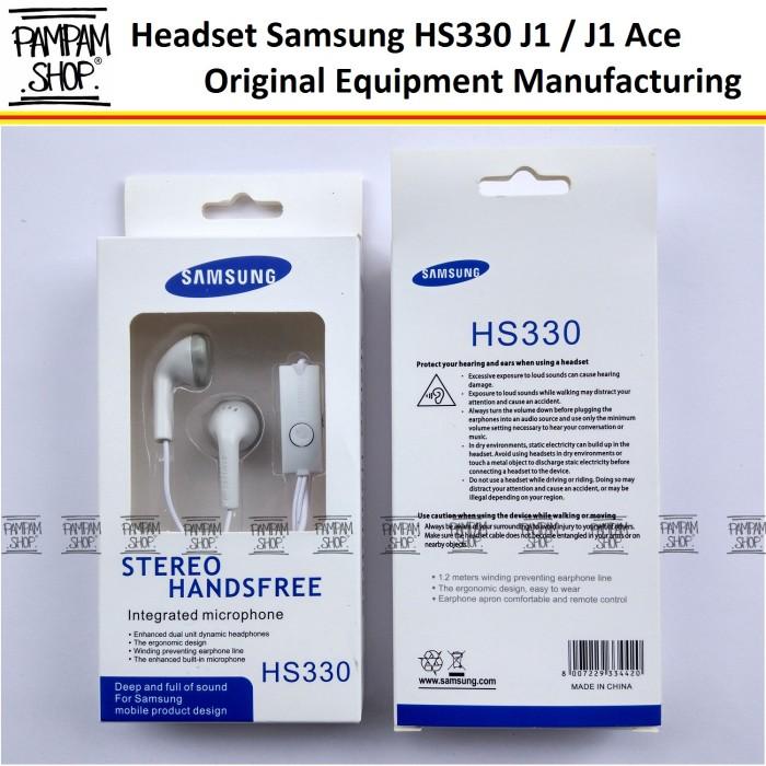 Stereo Headset Handsfree Samsung Galaxy J1, J2, J3 Ace Original HS330