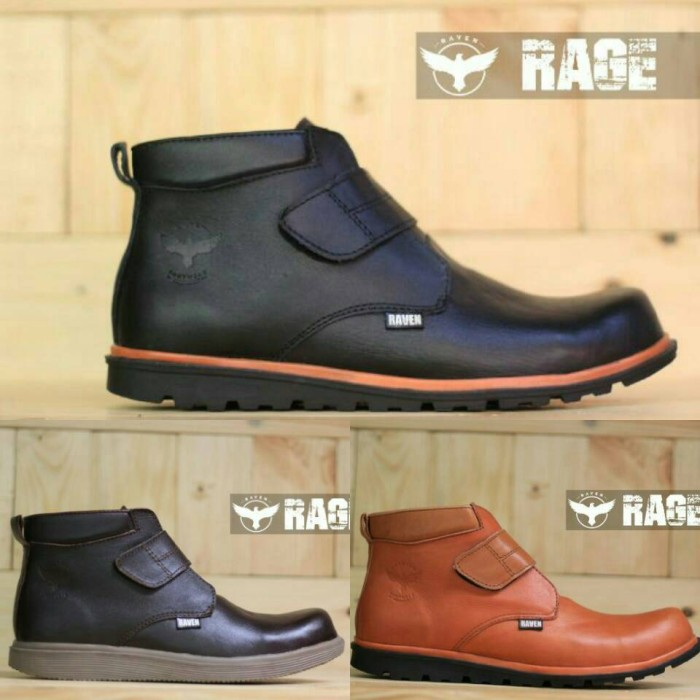 harga Sepatu boots pria kulit safety raven ripet original / compt kickers Tokopedia.com
