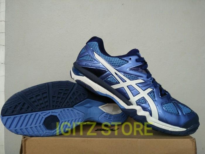 Jual  Original  Sepatu Volley Badminton ASICS GEL-TACTIC Purple Navy ... a9d091399b
