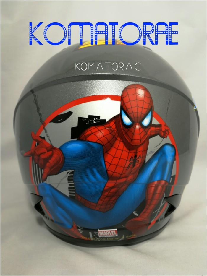harga Helm anak mds r3 junior spiderman #1 grap red blue Tokopedia.com