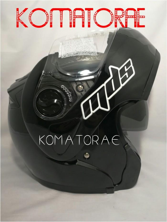 harga Helm Mds Pro Rider Modular Black Hitam Double Visor Full Face Tokopedia.com