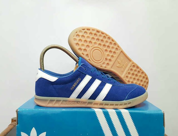 Jual Sepatu Pria Adidas Hamburg Blue IMPORT Kets Casual Sneakers ... 3dce0abf03