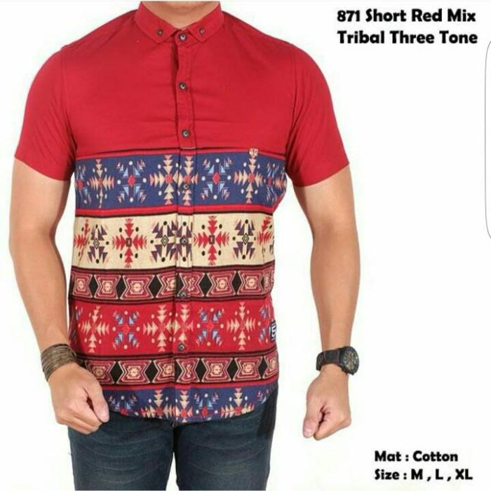 Jual Baju Kemeja Pria Batik Lengan Pendek Kemeja Mix Batik Modern. Daftar  Harga ... f510ae40c1