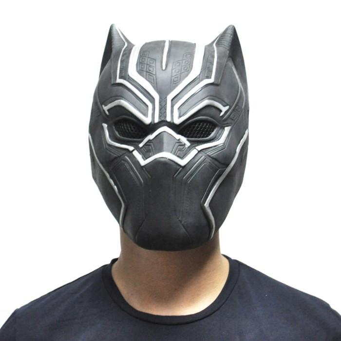 Topeng black panther marvel panter avenger bahan latex full head