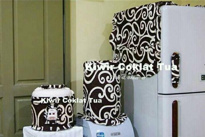 harga Set gkm sarung galon kulkas magicom motif kiwir coklat tua Tokopedia.com