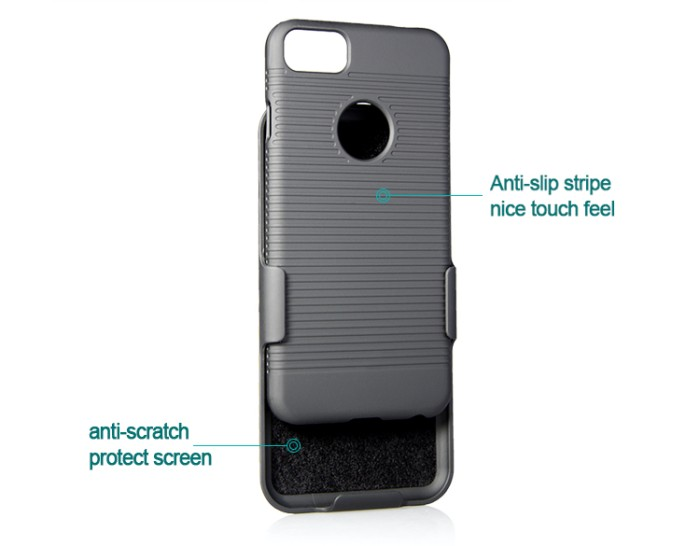harga Iphone 7 xcase slim rubberized case with clip belt-hitam Tokopedia.com