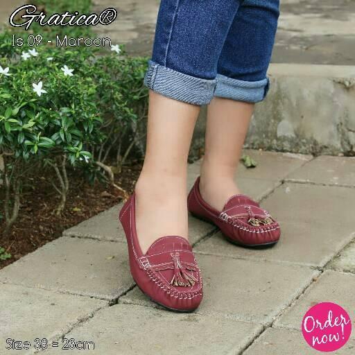 Sepatu Flat Shoes Gratica Is 09 - Maroon