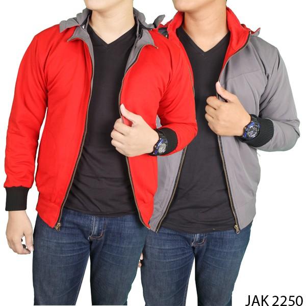 harga Jaket pria casual modis parasut abu merah jak 2250 Tokopedia.com