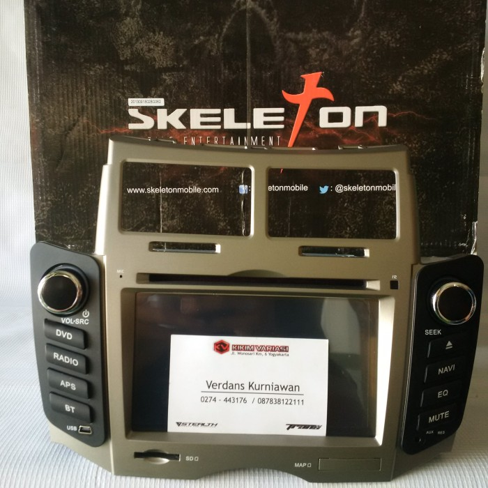 harga Double din gps skeleton skt-s028g for yaris | kikim variasi Tokopedia.com