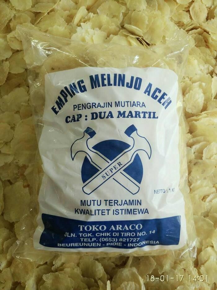 harga Emping melinjo aceh cap 2 martil (emping ukuran jumbo) Tokopedia.com
