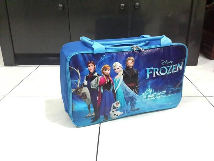 Tas Koper Murah Grosir Travel Traveling Bag Karakter Anak Frozen Blue