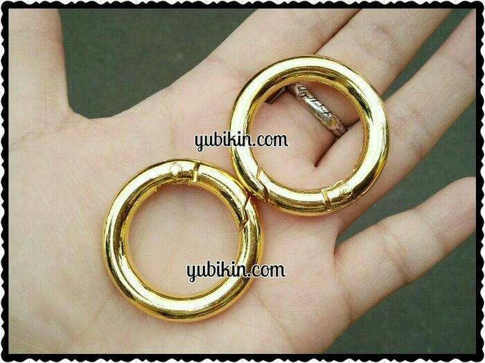 Foto Produk Bag Hanger Ring Bag Charm 36mm Mekanik Buka Tutup dari Yubikin Craft