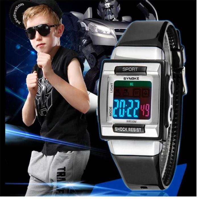 ... harga Jam tangan anak laki laki anti air original topbranded-synoke  hitam Tokopedia.com 9da1569ad3