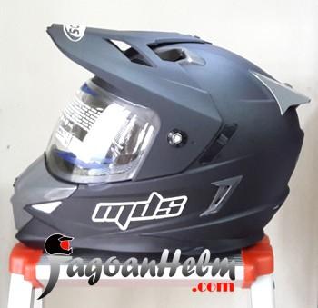 harga Mds helm super pro black doff fullface ringan supermoto hitam dop Tokopedia.com