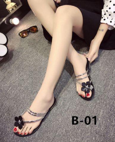 harga Sandal teplek bunga tali silver / sepatu sendal flat murah wanita Tokopedia.com