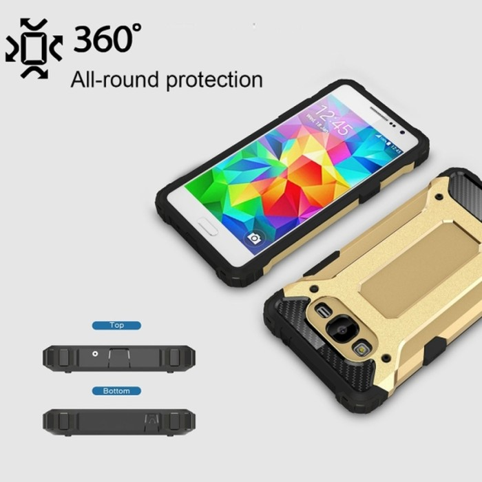 Case/Casing Though Armor For Samsung Galaxy J3 + Free Holder Gurita