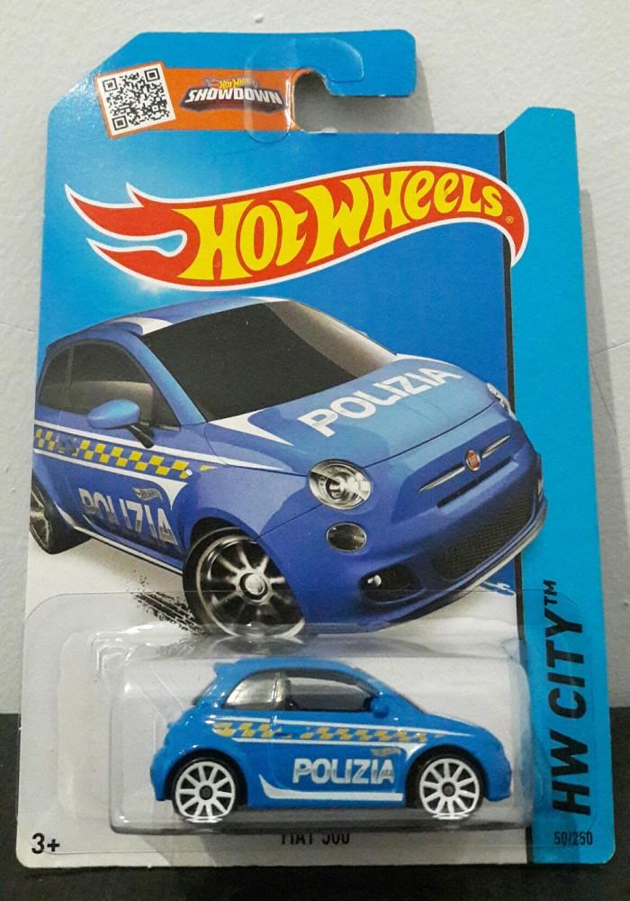 Jual Hot Wheels Fiat 500 Polizia Kota Bekasi Collectsix Tokopedia