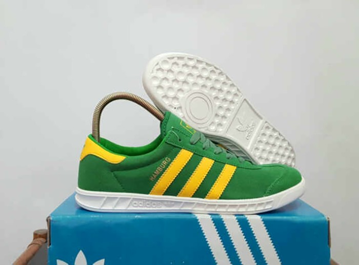 Jual Sepatu Pria Adidas Hamburg Green IMPORT Kets Casual Sneakers ... 5d7dd18e16