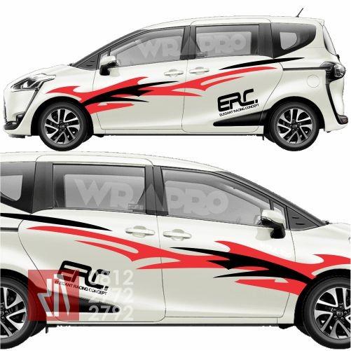 Jual cutting sticker mobil keren striping tribal erc WRC ...