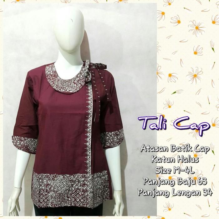 Jual Blus Batik Wanita Tali Cap Baju Batik Kerja Wanita Kota Surakarta Koleksi Batik Terbaru Tokopedia