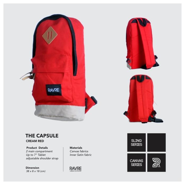 Tas Ravre Capsule Red Series / Tas Tablet Selempang Ravre