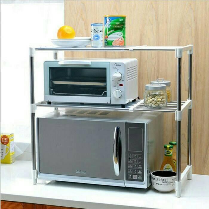harga #225 microwave storage rak serbaguna 2 susun Tokopedia.com