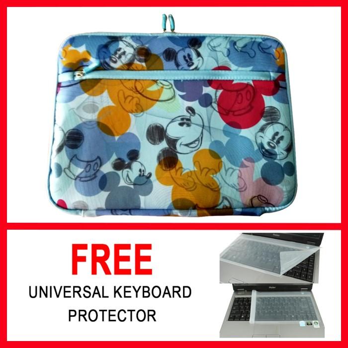harga Tas Laptop/softcase 14 Inch Motif Mickey + Free Keyboard Protector Tokopedia.com